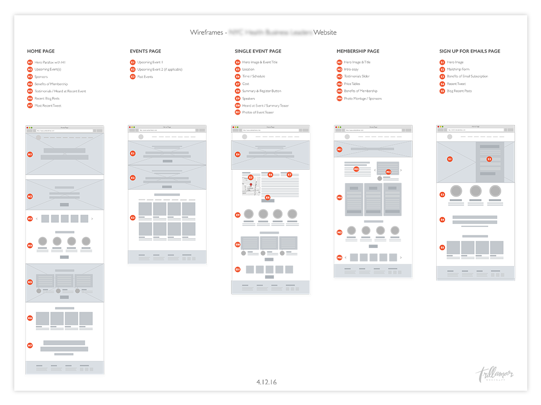 low fi web wireframes